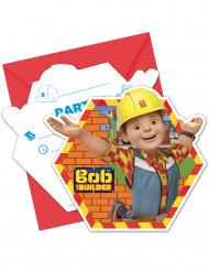 6 Bob de Bouwer™ uitnodigingen met enveloppen