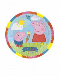 8 kleine kartonnen bordjes Peppa Pig™