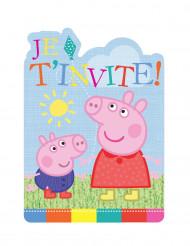 6 Peppa Pig™ uitnodigingen
