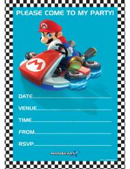 20 Super Mario™ uitnodigingen met enveloppen