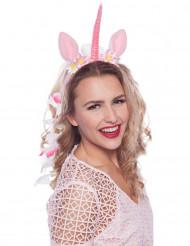 Roze magische eenhoorn haarband voor vrouwen
