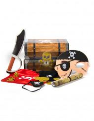 Piraten schattenkist met accessoires