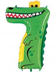 Enorme cijfer 7 krokodil ballon