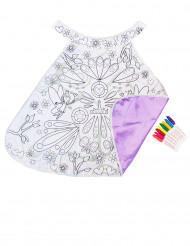Roze wasbare en kleurbare cape voor meisjes