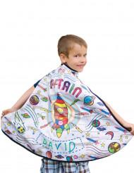 Inkleurbare raket cape voor jongens