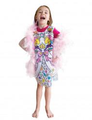 Inkleurbare prinsessen jurk voor meisjes