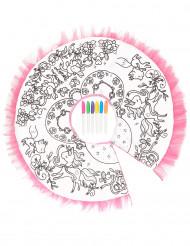 Wasbare en inkleurbare tutu voor meisjes