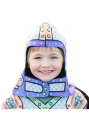 Inkleurbare ridder helm voor kinderen!