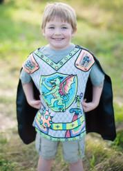 Kleurbare ridder draak tuniek met cape voor jongens