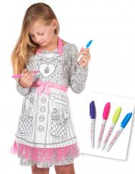 Inkleurbaar en wasbaar schort voor meisjes