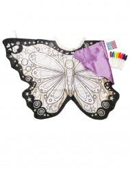 Wasbare inkleurbare vlindervleugels voor kinderen