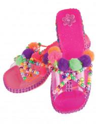 Roze personaliseerbare prinses schoenen voor meisjes