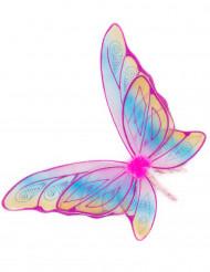 Roze glitter vlindervleugels voor meisjes