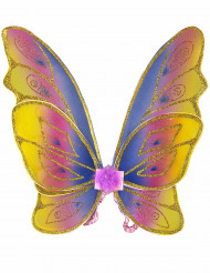 Pastel vlindervleugels met glitters voor meisjes