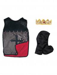 Rode omkeerbare ridder tuniek voor jongens