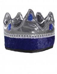 Blauwe ridder koning kroon voor kinderen