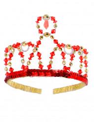 Rode prinsessen kroon voor meisjes