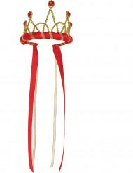 Rode middeleeuwse kroon voor meisjes