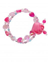 Roze bloemen armband voor meisjes