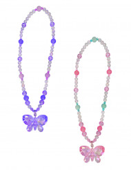 Roze vlinder ketting voor meisjes
