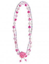 Roze bloem halsketting voor meisjes