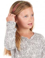 Fluo nepdiamanten haarband voor meisjes