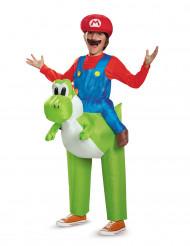 Opblaasbaar Nintendo® Mario op Yoshi kostuum voor kinderen