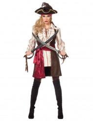 Luxe sexy boekanier kostuum voor vrouwen