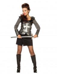 Ridder in harnas kostuum voor vrouwen