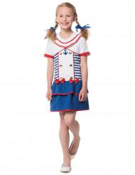 Gestreepte matroos kostuum voor meisjes