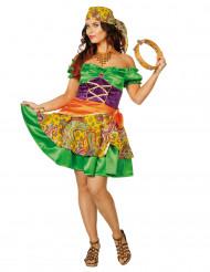 Kleurrijk zigeuner kostuum voor vrouwen