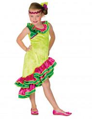 Geel rumba danseres kostuum voor meisjes