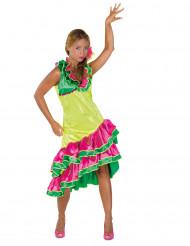 Geel rumba danseres kostuum voor vrouwen