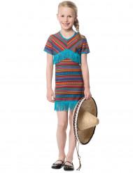 Turquoise Mexicaans kostuum voor meisjes