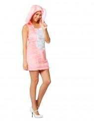 Roze konijn kostuum voor vrouwen