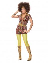 Jaren 80 kleurrijk disco kostuum voor vrouwen