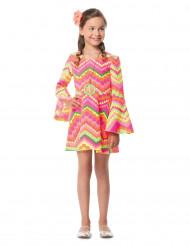 Fluo hippie kostuum voor meisjes