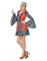 Ruiten hippie kostuum voor vrouwen