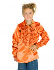 Oranje blouse met franjes voor kinderen