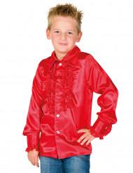 Rode blouse met franjes voor kinderen