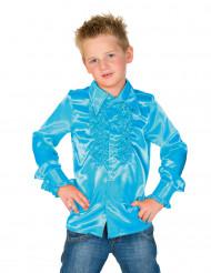 Lichtblauwe blouse met franjes voor kinderen