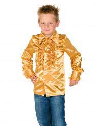 Goudkleurige disco blouse met franjes voor kinderen