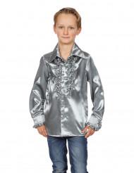 Zilverkleurige blouse met franjes voor kinderen