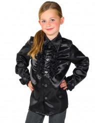 Zwarte blouse met franjes voor kinderen