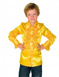 Gele blouse met franjes voor kinderen