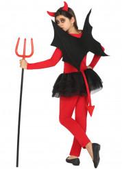 Rood met zwart duivel kostuum voor meisjes