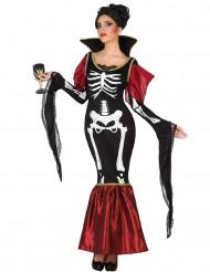 Vampier skelet kostuum voor vrouwen