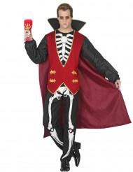 Vampier skelet kostuum voor mannen