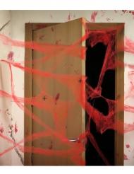 Rode spinnenweb met spinnen