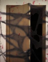 Zwarte spinnenweb met spinnen Halloween